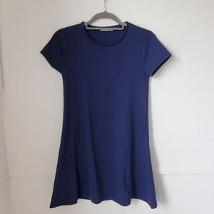 Zara Navy Short Sleeved Mini Dress/Tunic Size